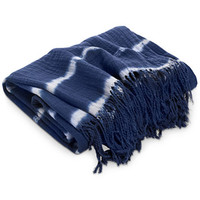 Lucky Brand Shibori Hand Tie-Dye Throw, Created for Macy's | macys.com