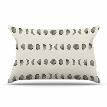 "KESS Original ""Phases Of The Moon"" Beige Gray Pillow Sham"