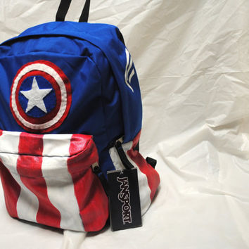 Avengers Captain America Minimalist Backpack by DayByRandomDay