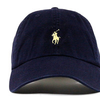 "Polo Dad Hat ""Navy Blue"""