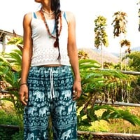 Elephant Pants // Harem pants // Hippie Pants // Boho Pants // Festival Clothing // Yoga Pants // Meditation Pants // Hippie Chic Pants