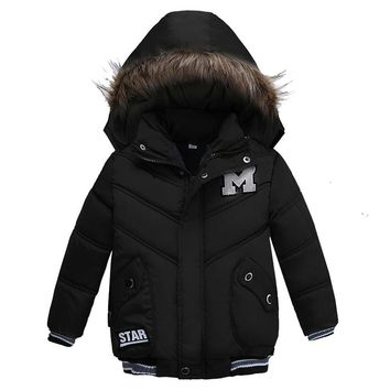Winter Kids Letterman Snow Jacket