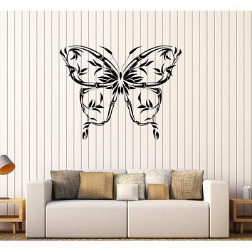 Vinyl Wall Decal Beautiful Butterfly Reed Decorating Room Stickers Unique Gift (258ig)