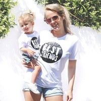 Mommy & Me matching Best friends Tees