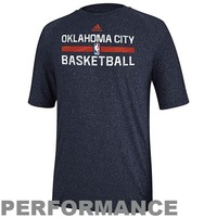 adidas Oklahoma City Thunder 2013 Christmas Day Practice Performance T-Shirt - Navy Blue