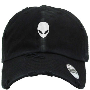 Alien head Distressed Baseball