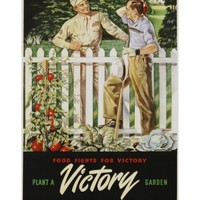 Food Fights for Victory, Plant a Victory Garden Poster Giclee Print at Art.com