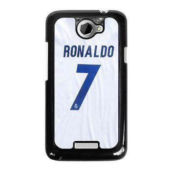 RONALDO CR7 JERSEY REAL MADRID HTC One X Case Cover