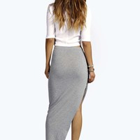 Sophie Step Hem Draped Maxi Skirt