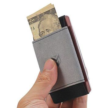 Ebax Minimalist Slim Wallet For Men Women  Elastic Front Pocket Card Holder Wallet