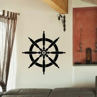 Wall Decal Vinyl Sticker Wheel Sea Ocean Travel Decor Sb418