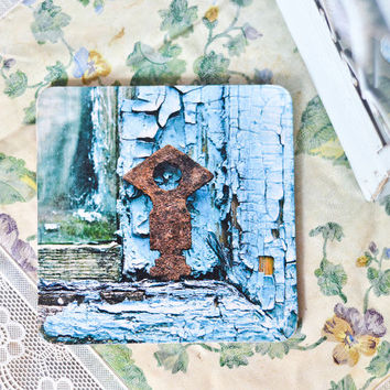 Rustic Photography Coaster - Boho Handmade Gift - Key Photo Coaster