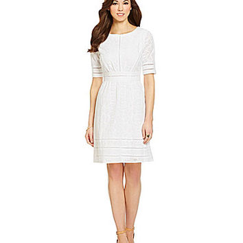 Antonio Melani Belinda Eyelet Sheath Dress - Ivory