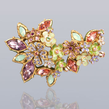 Naomi Floral Cluster Pin - Jay Strongwater