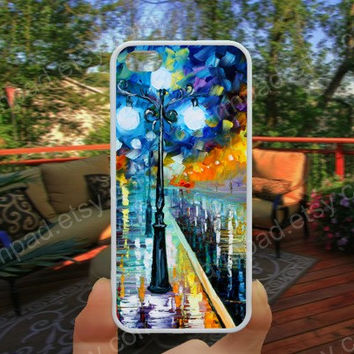 Oil painting, street iphone 4/4s case iphone 5/5s/5c case samsung galaxy s3/s4 case galaxy S5 case Waterproof gift case 452