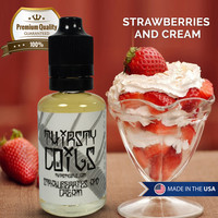 Strawberries and Cream 30ml 70vg 30pg Vape Eliquid Ejuice Nicotine