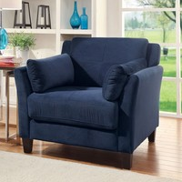 Furniture of America Pierson Contemporary Flannelette Chair | Overstock.com Shopping - The Best Deals on Living Room Chairs