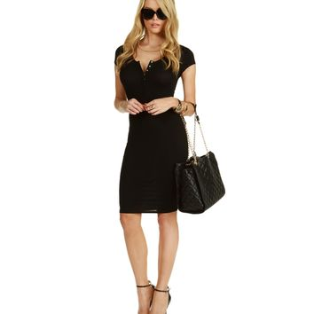 Black Everything Midi Dress
