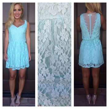 Cinderella Blue Lace Babydoll Dress