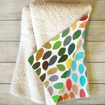 Garima Dhawan Rain 6 Fleece Throw Blanket