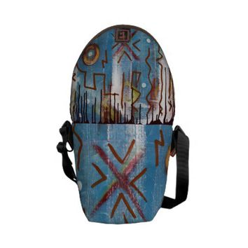 Aztec Ruins Messenger Bag from Zazzle.com