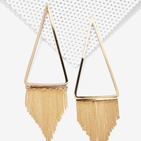 One More Triangle Fringe Earrings