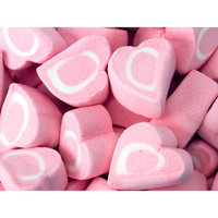 Pink & White Marshmallow Hearts: 14-Ounce Bag