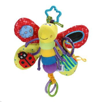 Baby Toys for Children Newborns Stroller Bed Hanging Butterfly Hand bell Rattles Mobile Teether Education Stuffed Plush Kid Toys