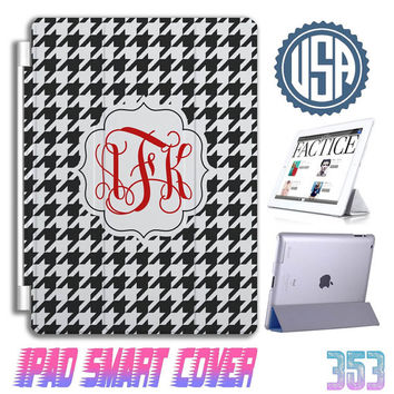 Houndstooth IPad Air Smart Cover Custom IPad 3 Case , IPad Mini case , IPad 3 , IPhone 5 5S 5C 4S Samsung Galaxy note 3 note 2 S4 S3 #353
