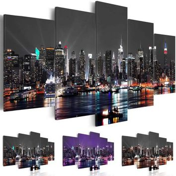 ( Unframed ) Fashion Canvas Print New York Canvas Art Modern City Landscape Wall Art Painting Home Decoration