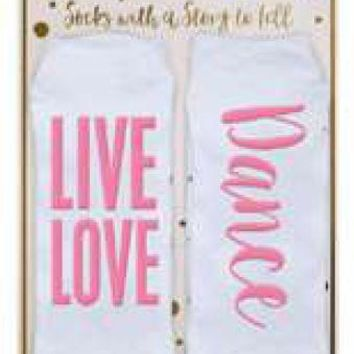 Live Love Dance Argyle Statement Socks by Simply Southern