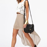 Get Down Skirt - Taupe