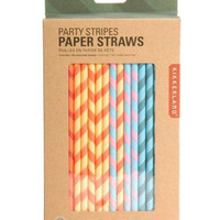 Kikkerland Party Stripes Paper Straws