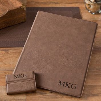 Mocha Portfolio and Business Card Case Set