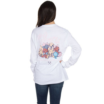 The Sweet Life Puppies Long Sleeve Tee in White by Lauren James