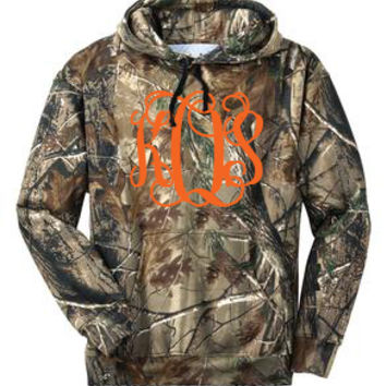 Monogrammed Realtree Camo Pullover Hooded Sweatshirt | Personalized & Preppy | Marley Lilly