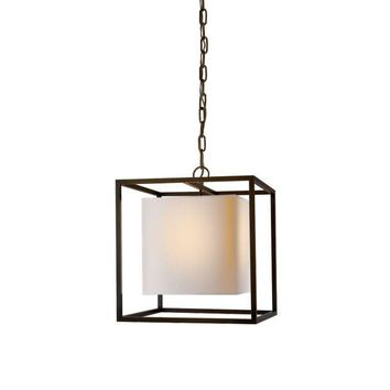 Pre-owned Bronze Visual Comfort Caged Small Lantern