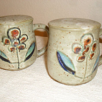 Vintage Mid Century Modern Otagiri Modernist Pottery Salt and Pepper Shakers Japan