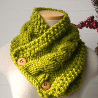 Knit Scarf Cable Cowl Your Custom Color Choice by WindyCityKnits