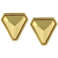 Vince Camuto Gold-Tone Triangle Stud Clip-On Earrings