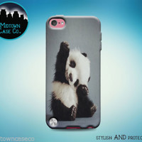Panda Bear Baby Cute Animal Babies Rubber Case for iPod Touch 6th or 5th Gen