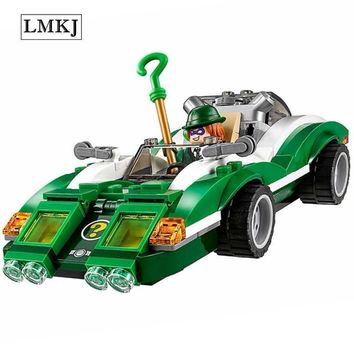 Batman Dark Knight gift Christmas 282pcs Diy Movie Series The Batman Riddler Racer Car Building Blocks Compatible with Legoingly Bricks Toys for Children AT_71_6