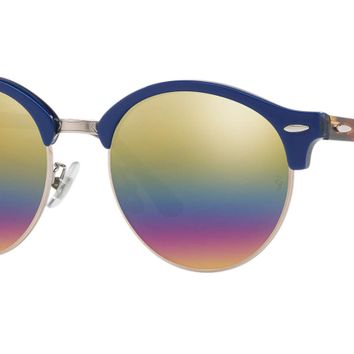Authentic RAY-BAN 4246F - 1223C4 Sunglasses Gold Rainbow Flash *NEW* 53mm
