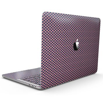 Coral and Navy Micro Woven Pattern - MacBook Pro with Touch Bar Skin Kit