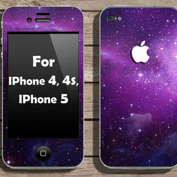 Buy 2 get 1 free - Galaxy skin for IPhone 4, 4s and IPhone 5 (s101)