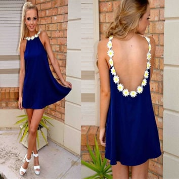 Backless Mini Dress [7279470919]