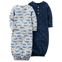 Baby Boy Carter's 2-pk. Whale & Anchor Print Sleeper Gowns | null