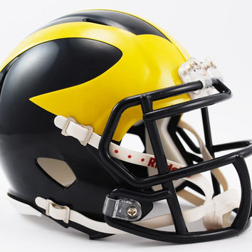 Riddell Miniature Ncaa Speed Helmet Michigan