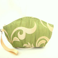 Light Green Makeup Cosmetic Pouch  Bag Zipper Makeup by Bagssalon