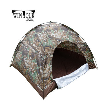 Lightweight 3-4person Water Resistant Camouflage Tent